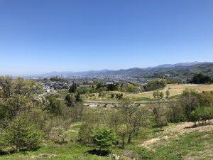 山形蔵王の公園からの景色